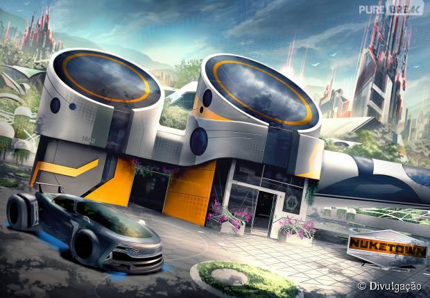 """Screenshot do mapa Nuk3town que retorna em """"Call Of Duty: Black Ops 3"""""""