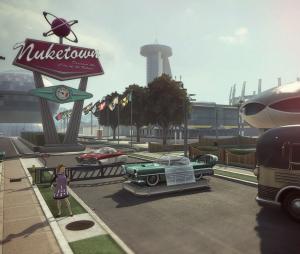 """Antigo mapa Nuketown do game de 2012 """"Call Of Duty: Black Ops II"""""""