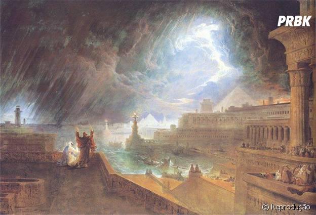 """Novela """"Os Dez Mandamentos"""": chuva de pedras cai sobre o povo do Egito"""