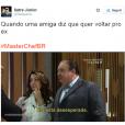 """Pode perguntar pra sua melhor amiga se você não tem a mesma reação daAna Paula Padrão, do""""MasterChef Brasil"""""""