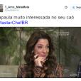 """Ana Paula Padrão, do """"MasterChef Brasil"""", liderou no número de memes após eliminação de Cristiano"""