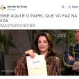 """A Ana Paula Padrão, do """"MasterChef Brasil"""", joga a realidade pras pessoas"""
