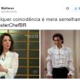 """Ana Paula Padrão, do """"MasterChef Brasil"""", teve seu look comparado aodo personagem Jerry Seinfeld, da série """"Seinfield"""""""