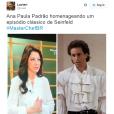 """Será que aAna Paula Padrão, do""""MasterChef Brasil"""", tá precisando de ajuda na hora de montar os looks?"""