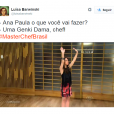 "Olha só a Ana Paula Padrão, do ""MasterChef Brasil"", se inspirando no anime Dragon Ball Z"