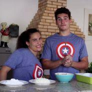 """Nicolas Prattes, de """"Malhação"""", relembra vlog com Lívian Aragão: """"Gosto de cozinhar pra ela!"""""""