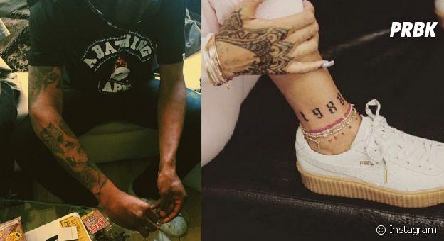 Tatuagens de Rihanna e Travis Scott
