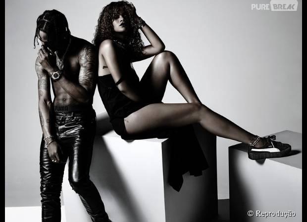 Rihanna e Travis Scott em campanha da Puma