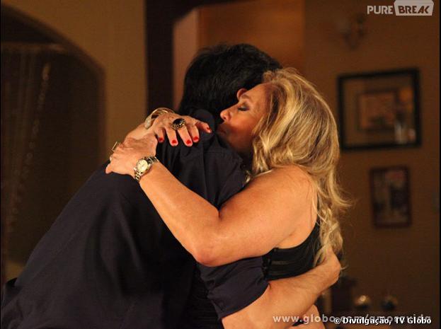 """Em """"Amor à Vida"""", Pilar (Susana Vieira) e Félix (Mateus Solano) se reconciliaram"""