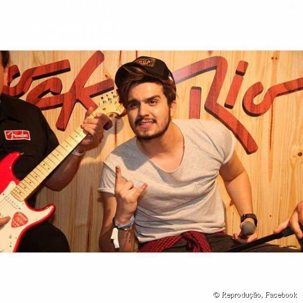 Luan Santana publica vídeo cantando no Rock in Rio