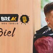 """Biel, do hit """"Demorô"""", abre o jogo sobre namoro, fama e carreira no Meet & Break! Confira!"""