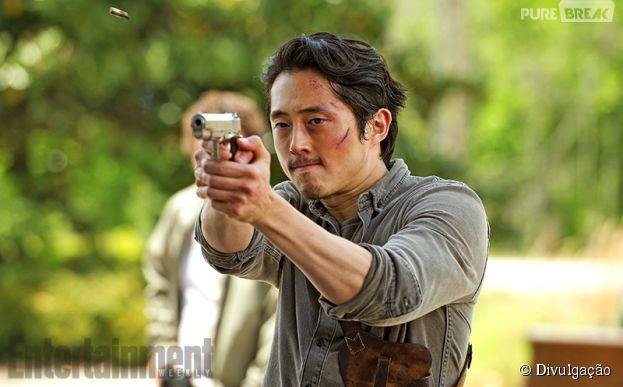 """Glenn (Steven Yeun) está empenhado para fazer de Alexandria um lugar melhor em """"The Walking Dead"""""""