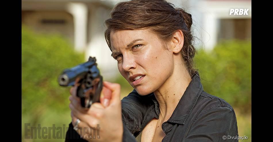 """Maggie (Lauren Cohan) também está mais forte do que nunca, a batalha vai ser intensa na próxima temporada de """"The Walking Dead"""""""