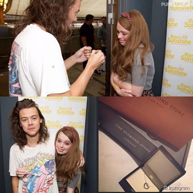 Harry Styles, do One Direction, realizou o sonho de uma fã diagnosticada com câncer. Awn!