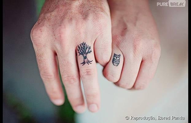 Essas tatuagens são bonitas separadas e ficam melhores quando estão juntas