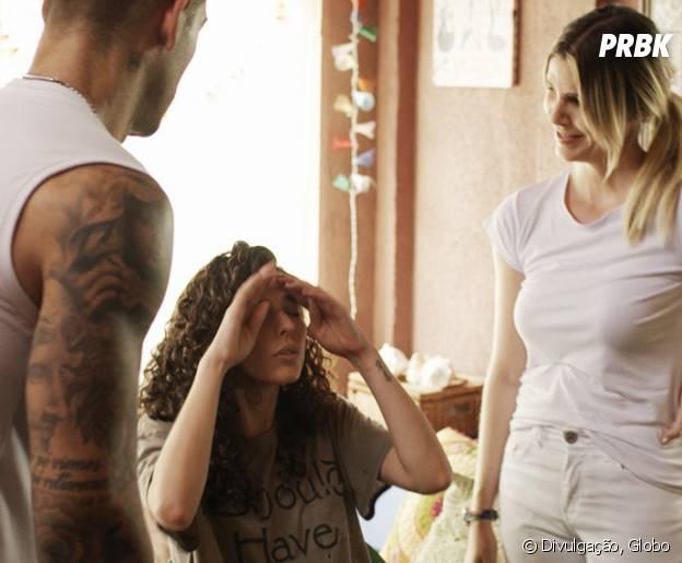 """Novela """"Malhação"""": Ciça (Julia Konrad) briga com Uodson (Lucas Lucco) por causa da fisioterapeuta!"""