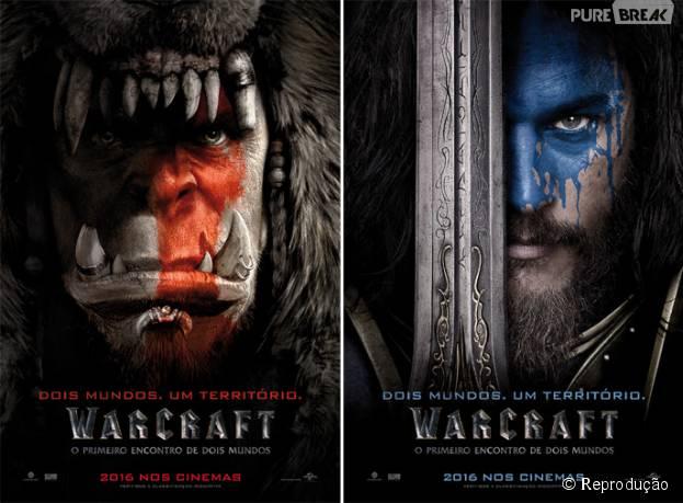 """""""Warcraft – O Primeiro Encontro de Dois Mundos"""" ganha cartazes com os líderes da Horda e da Aliança"""