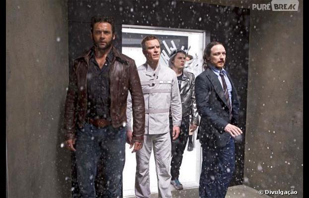 """Evan Peters aparece como Mercúrio com Hugh Jackman, Michael Fassbender e James McAvoy em """"X-Men - Dias de um Futuro Esquecido"""""""