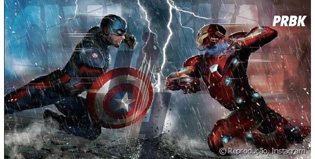 """Em """"Capitão América 3"""", o Capitão América e o Homem de Ferro se enfrentam por possuírem pensamentos diferentes"""