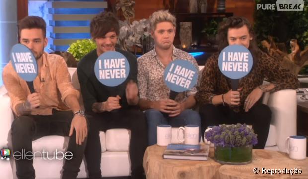 One Direction participa de brincadeira no programa da Ellen DeGeneres