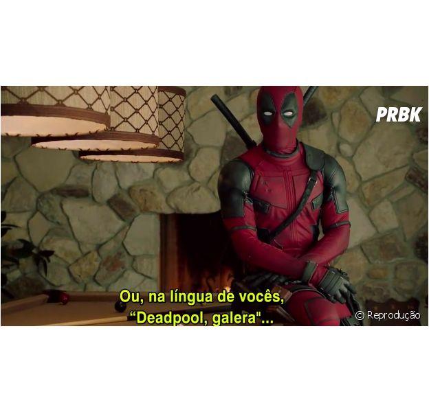 Ryan Reynolds veste o uniforme do Deadpool para mandar recadinho aos fãs brasileiros