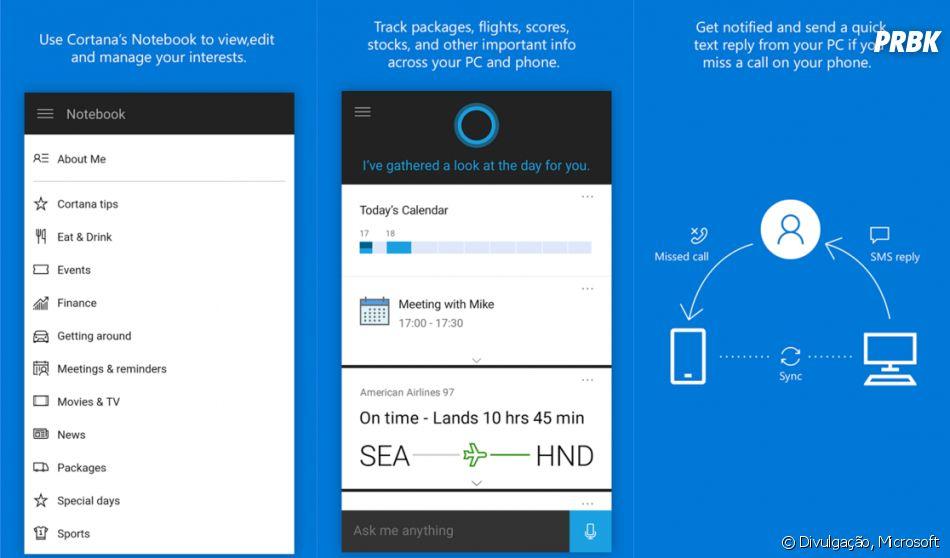 Cortana, da Microsoft, ainda não está totalmente integrada ao celular como as rivais, mas vale a pena testar!