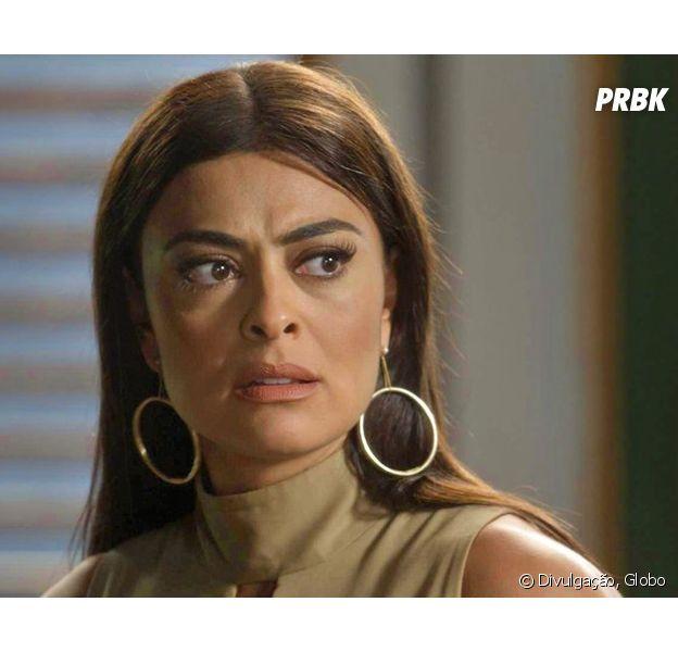 """Em """"Totalmente Demais"""", Carolina (Juliana Paes) planeja nova etapa para desclassificar Eliza (Marina Ruy Barbosa) do concurso!"""