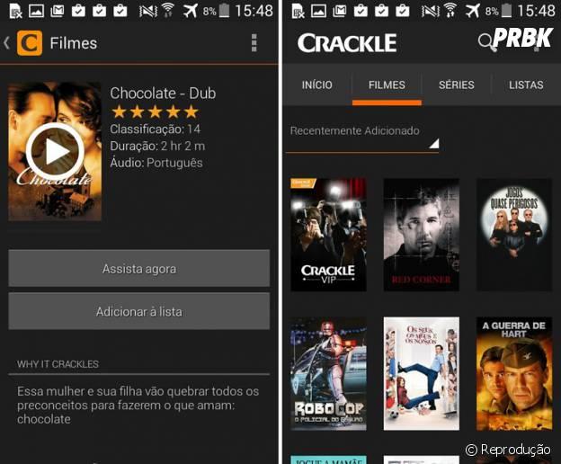 Crackleé um dos melhores aplicativos para assistir filmes e séries no celular!