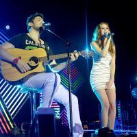 Sophia Abrahão e Lucas Lucco gravam DVD do Oba Oba Samba House