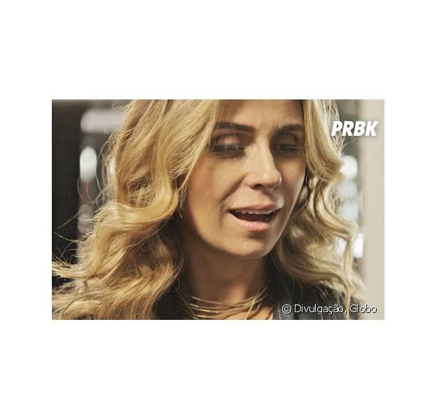 """Em """"A Regra do Jogo"""": Atena (Giovanna Antonelli) diz toda a verdade sobre Romero (Alexandre Nero) para Tóia (Vanessa Giácomo)"""