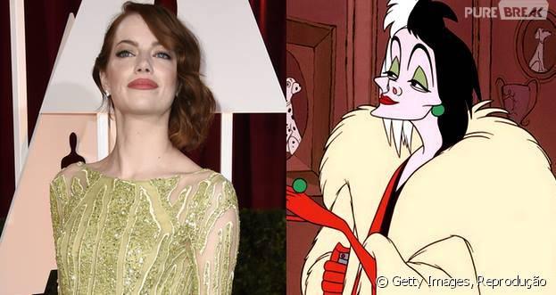 """Emma Stone pode interpretar Cruella de Vil, de """"101 Dálmatas"""""""