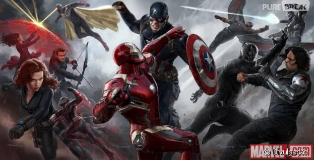 """""""Capitão América 3: Guerra Civil"""" ganhou uma nova foto conceitual"""