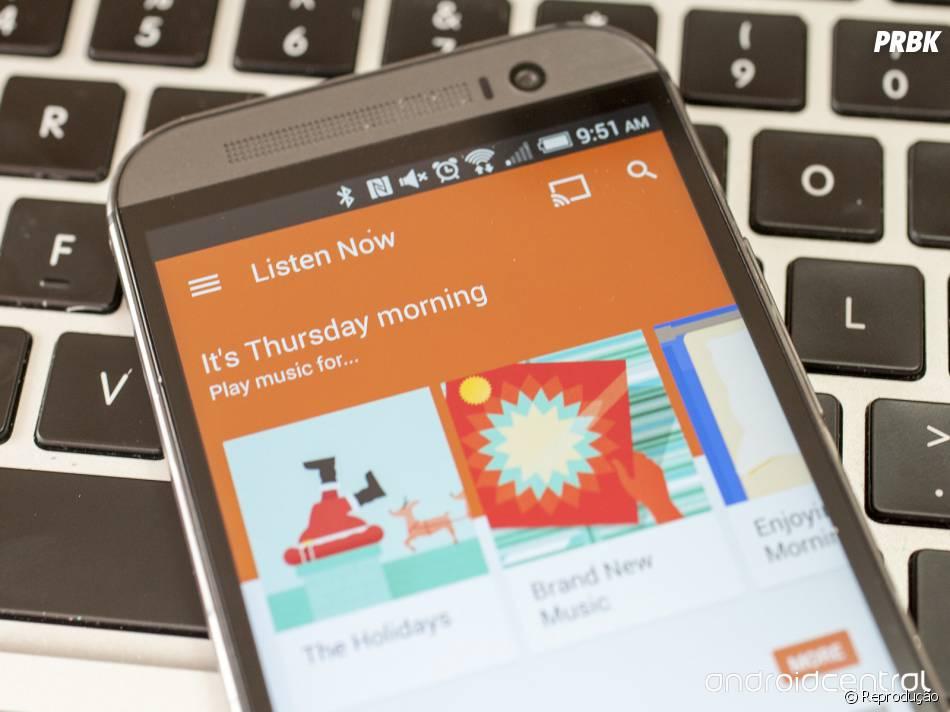 Google Play Música- rival do Spotify, Tidal e Apple Music - também possui plano gratuito com anúncios