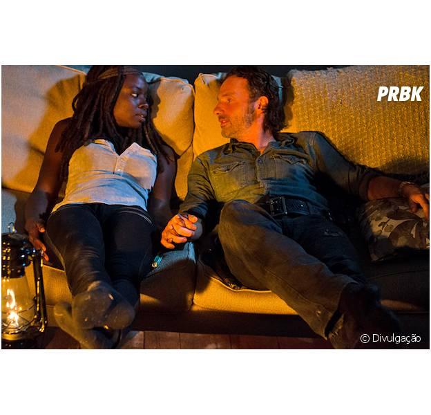 "Em ""The Walking Dead"": Rick (Andrew Lincoln) e Michonne (Danai Gurira) transam!"
