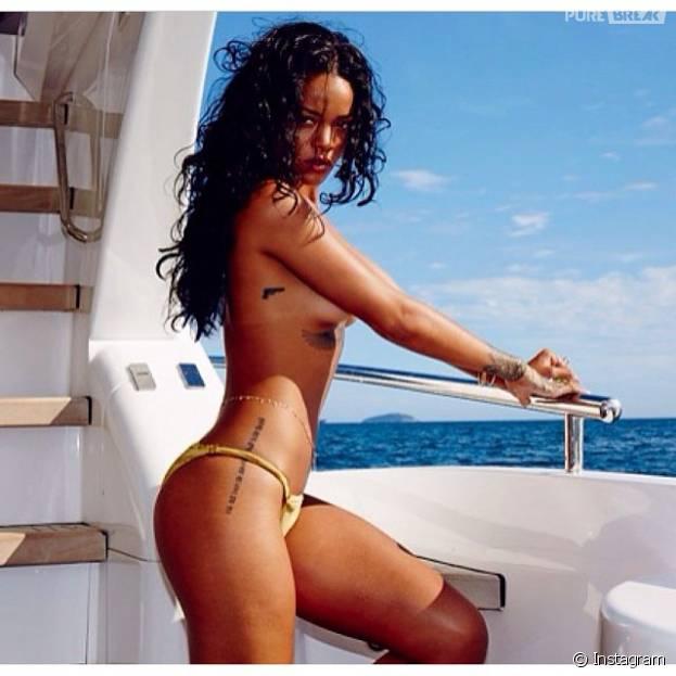 Rihanna não tem problema com a nudez, mas isso não dá o direito de ninguém vazar suas fotos, né? Na época do Rock in Rio uma foto sua começou a rodar pela internet e a cantora não gostou