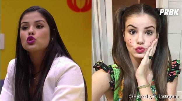 """Veja as semelhanças entre Munik, do """"BBB16"""", e Camila Queiroz"""
