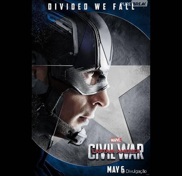 """""""Capitão América 3: Guerra Civil"""" ganha cartazes individuais para os seus personagens"""