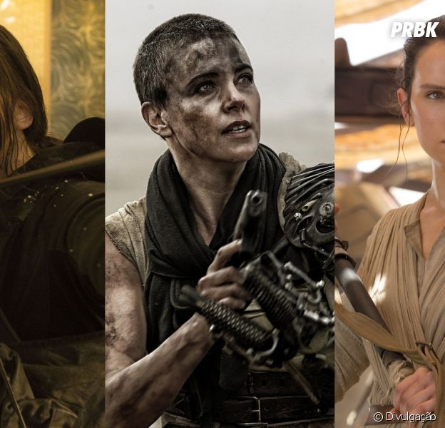"""De """"Jogos Vorazes"""" a """"Star Wars VII"""": veja protagonistas femininas que roubaram os holofotes dos homens!"""