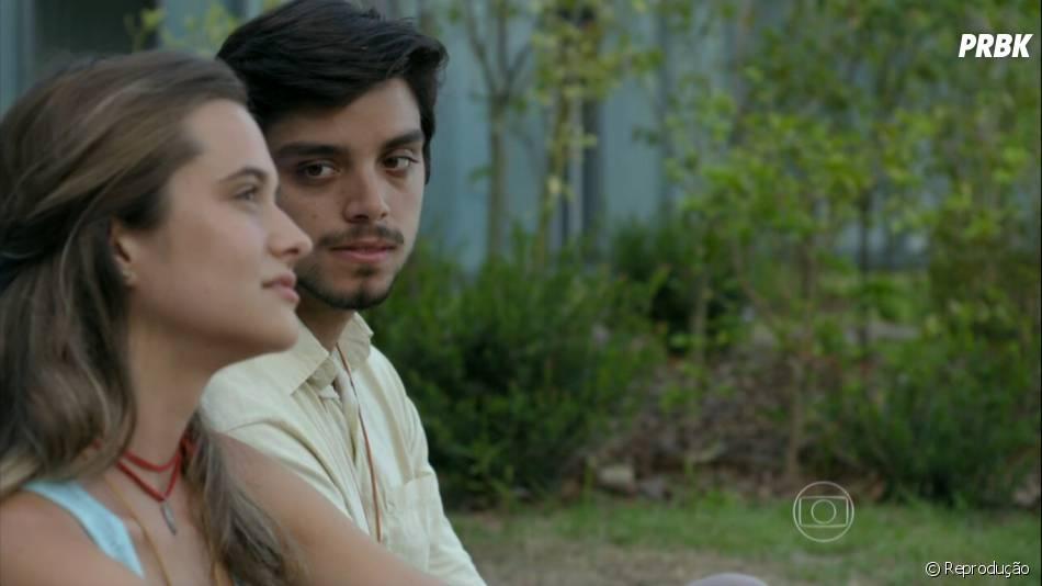 """Juliana Paiva e Rodrigo Simas repetem par romântico de """"Malhação"""" na novela """"Além do Horizonte"""""""