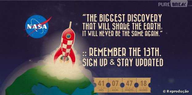 "Suposto da site da Nasa ""Remember the 13th"" anuncia grande novidade"