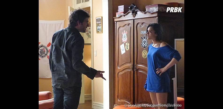 """Só que não vai durar muito tempo porque, logo depois,Fabinho (Humberto Carrão) e Giane (Isabelle Drummond)terão uma briga feia em """"Sangue Bom""""!"""