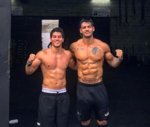 Lucas Lucco e Arthur Aguiar já se uniram para malhar