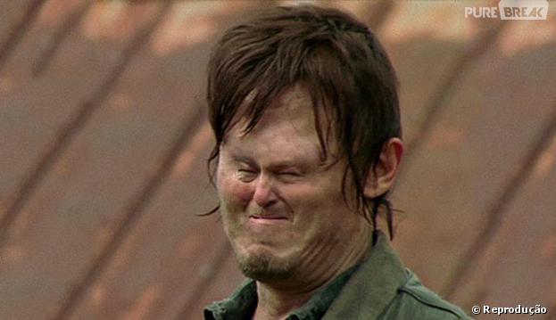 """Na trollagem de """"The Walking Dead"""", Daryl (Norman Reedus) ficou com o rosto pequenininho!"""