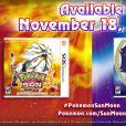 """""""Pokémon Sun"""" e """"Pokémon Moon"""" serão lançados dia 18 de novembro de 2016 para o 3DS"""