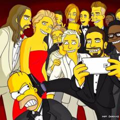 """Simpson"" invade ""selfie"" do Oscar 2014 com Ellen Degeneres e Jennifer Lawrence"