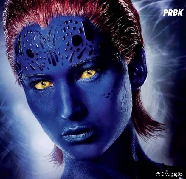 "Jennifer Lawrence interpreta a mutante Mística, em ""X-Men: Apocalipse"""
