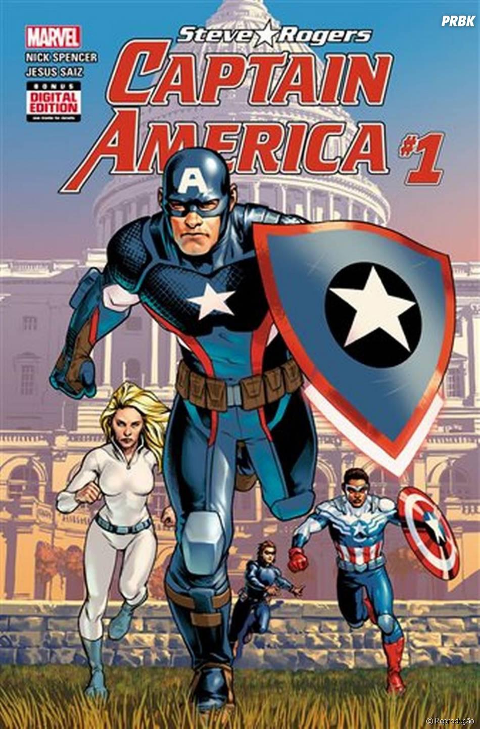 """Em """"Capitão América"""": Steve Rogers pode virar vilão? Editor da HQ explica o """"Hail Hydra"""" dito pelo herói!"""