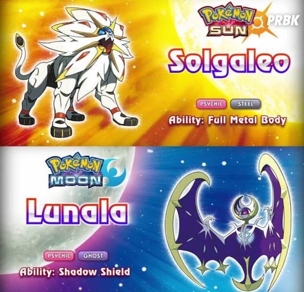 """De """"Pokémon Sun e Moon"""":Solgaleo é Psíquico/Metal, enquanto Lunala, Psíquico/Fantasma!"""