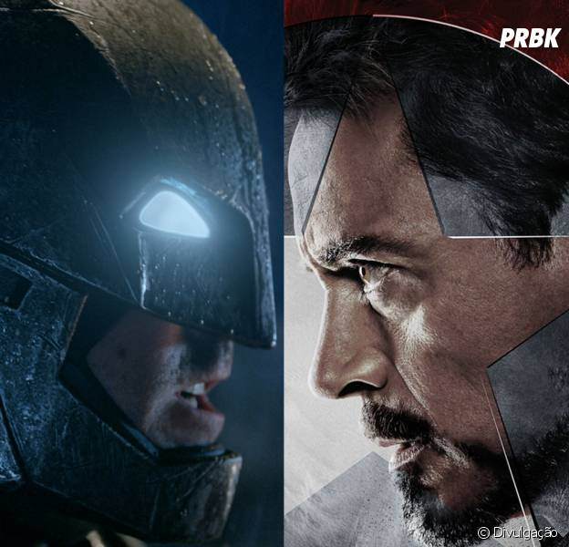 Ricos, bonitos e inteligentes: Batman (Ben Affleck) e Homem de Ferro (Robert Downey Jr.) seriam ótimos amigos!