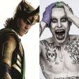 Com os vilões Loki (Tom Hiddleston) e Coringa (Jared Leto) juntos, não teria pra ninguém!